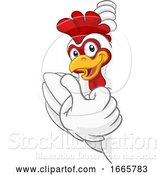 Vector Illustration of Chicken Rooster Cockerel Bird Character by AtStockIllustration
