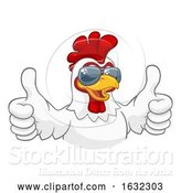 Vector Illustration of Chicken Rooster Cockerel Bird Sunglasses by AtStockIllustration
