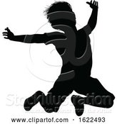 Vector Illustration of Child Silhouette by AtStockIllustration