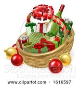 Vector Illustration of Christmas Hamper Gift Basket by AtStockIllustration