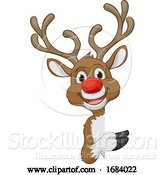 Vector Illustration of Christmas Reindeer Character by AtStockIllustration