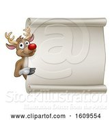 Vector Illustration of Christmas Reindeer Sign by AtStockIllustration