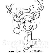 Vector Illustration of Christmas Santas Reindeer Character by AtStockIllustration