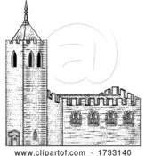 Vector Illustration of Church Cathedral Old Medieval Vintage Building by AtStockIllustration