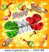 Vector Illustration of Cinco De Mayo Mexican Holiday Stars Background by AtStockIllustration