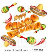 Vector Illustration of Cinco De Mayo Mexican Holiday Themed Background by AtStockIllustration