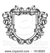 Vector Illustration of Coat of Arms Crest Family Knight Heraldic Shield by AtStockIllustration
