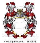 Vector Illustration of Coat of Arms Crest Knight Family Heraldic Shield by AtStockIllustration