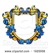 Vector Illustration of Coat of Arms Crest Knight Heraldic Family Shield by AtStockIllustration