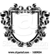 Vector Illustration of Coat of Arms Heraldic Crest Knight Family Shield by AtStockIllustration