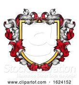 Vector Illustration of Coat of Arms Shield Crest Knight Heraldic Family by AtStockIllustration