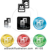 Vector Illustration of Colored Picture Icon Buttons by AtStockIllustration