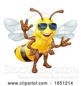 Vector Illustration of Cool Honey Bumble Bee in Sunglasses by AtStockIllustration