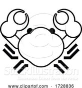 Vector Illustration of Crab Sign Label Icon Concept by AtStockIllustration