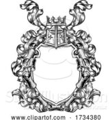 Vector Illustration of Crest Coat of Arms Royal Scroll Shield by AtStockIllustration