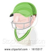 Vector Illustration of Cricket Guy Avatar People Icon by AtStockIllustration