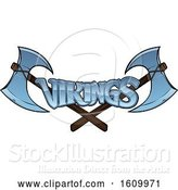 Vector Illustration of Crossed Viking Axes and Text by AtStockIllustration