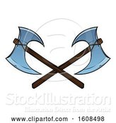 Vector Illustration of Crossed Viking Axes by AtStockIllustration