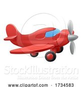 Vector Illustration of Cute Aeroplane Airplane by AtStockIllustration