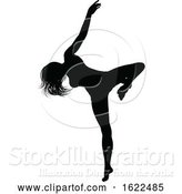 Vector Illustration of Dancing Lady Silhouette by AtStockIllustration