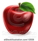 Vector Illustration of Deep Red Apple by AtStockIllustration