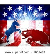 Vector Illustration of Democrats Vs Republicans by AtStockIllustration