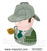 Vector Illustration of Detective Guy Avatar People Icon by AtStockIllustration