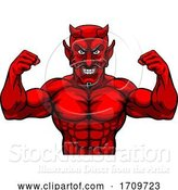 Vector Illustration of Devil Sports Mascot Character by AtStockIllustration