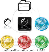Vector Illustration of Different Colored File Icon Buttons by AtStockIllustration