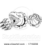 Vector Illustration of Dinosaur Basketball Player Animal Sports Mascot by AtStockIllustration