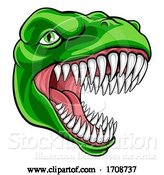 Vector Illustration of Dinosaur T Rex or Raptor Mascot by AtStockIllustration