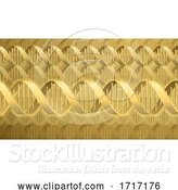 Vector Illustration of DNA Double Helix Molecule Background by AtStockIllustration