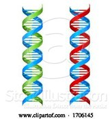 Vector Illustration of DNA Double Helix Molecule Illustration by AtStockIllustration