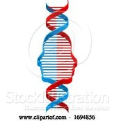 Vector Illustration of DNA Strand with Faces by AtStockIllustration
