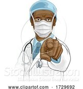 Vector Illustration of Doctor in PPE Mask Pointing Needs You by AtStockIllustration