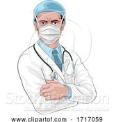 Vector Illustration of Doctor in Protective Mask Medical Concept by AtStockIllustration
