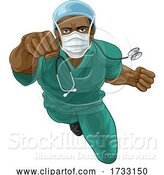 Vector Illustration of Doctor or Nurse Superhero Medical Concept by AtStockIllustration