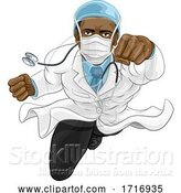 Vector Illustration of Doctor Super Hero Medical Concept by AtStockIllustration