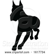 Vector Illustration of Dog Silhouette by AtStockIllustration