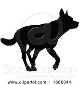 Vector Illustration of Dog Silhouette Pet Animal by AtStockIllustration