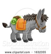 Vector Illustration of Donkey Animal Character by AtStockIllustration