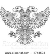 Vector Illustration of Double Headed Imperial Eagle with Two Heads by AtStockIllustration