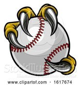 Vector Illustration of Eagle Bird Monster Claw Holding Baseball Ball by AtStockIllustration