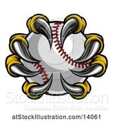 Vector Illustration of Eagle Claws Grasping a Baseball by AtStockIllustration