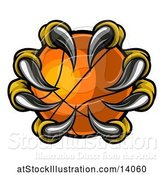 Vector Illustration of Eagle Claws Grasping a Basketball by AtStockIllustration
