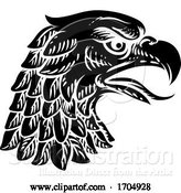 Vector Illustration of Eagle Falcon Hawk or Phoenix Head Face Mascot by AtStockIllustration