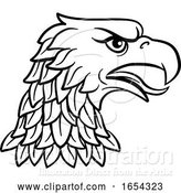 Vector Illustration of Eagle Head Imperial Heraldic Symbol by AtStockIllustration