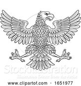 Vector Illustration of Eagle Imperial Heraldic Symbol by AtStockIllustration