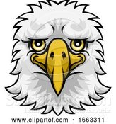 Vector Illustration of Eagle Mascot Cute Happy Character by AtStockIllustration