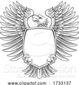 Vector Illustration of Eagle Shield Vintage Engraved Woodcut Style by AtStockIllustration